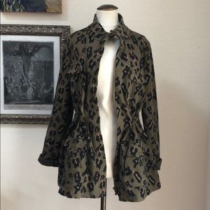 Anthropologie animal print jacket by Tabitha.